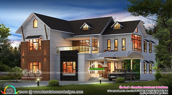 Beautiful modern 5 BHK house architecture