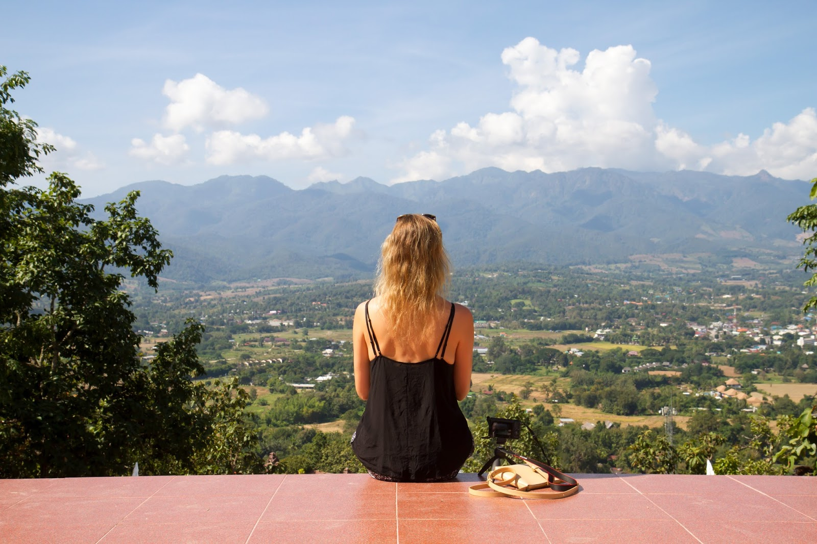 View from the White Buddha, Pai, Thailand