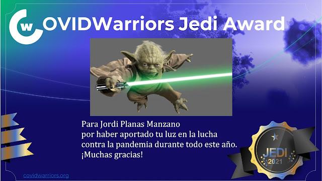 Distinció per col·laborar en la lluita contra la COVID-19 amb COVID Warriors