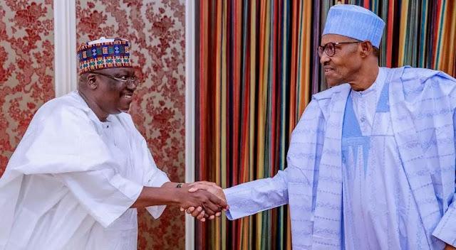 Buhari sends message to Lawan