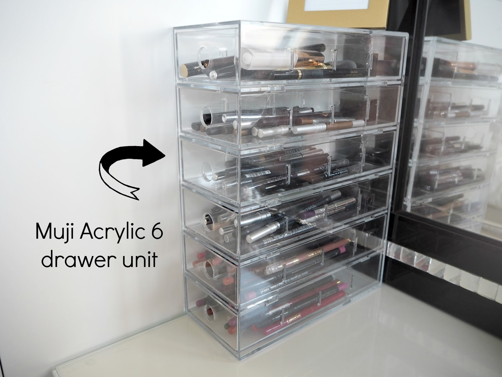 My make up storage vanity bedroom tour expat make up addict - Malm dressing table drawer organizer ...