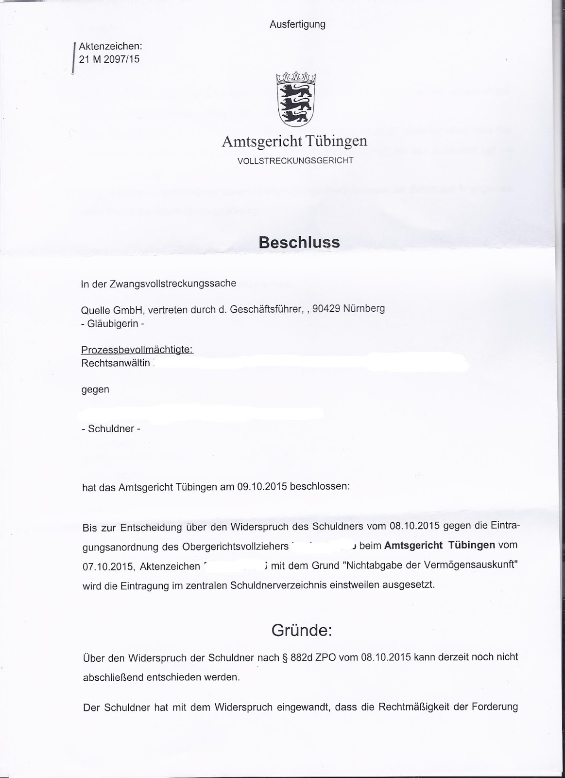 Beitragsservice Stoppen Amtsgericht Tübingen Stoppt Gerichtsvollzieher