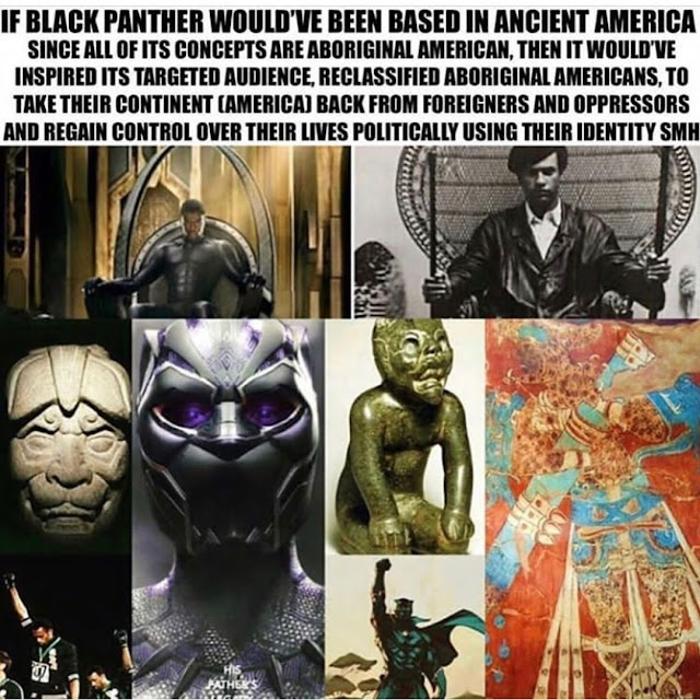 black panther is american native