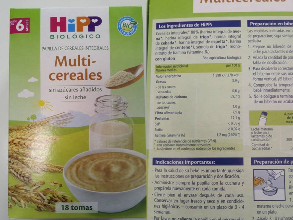 Sin trazas de leche cereales hipp - Cereales sin gluten bebe 3 meses ...
