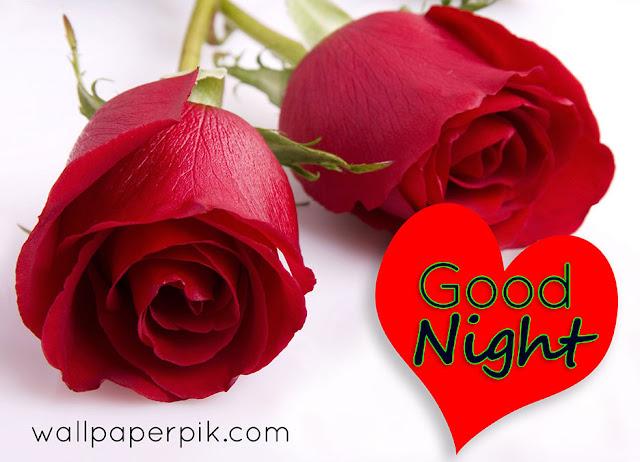 dil heart rose good night image download wallpaper