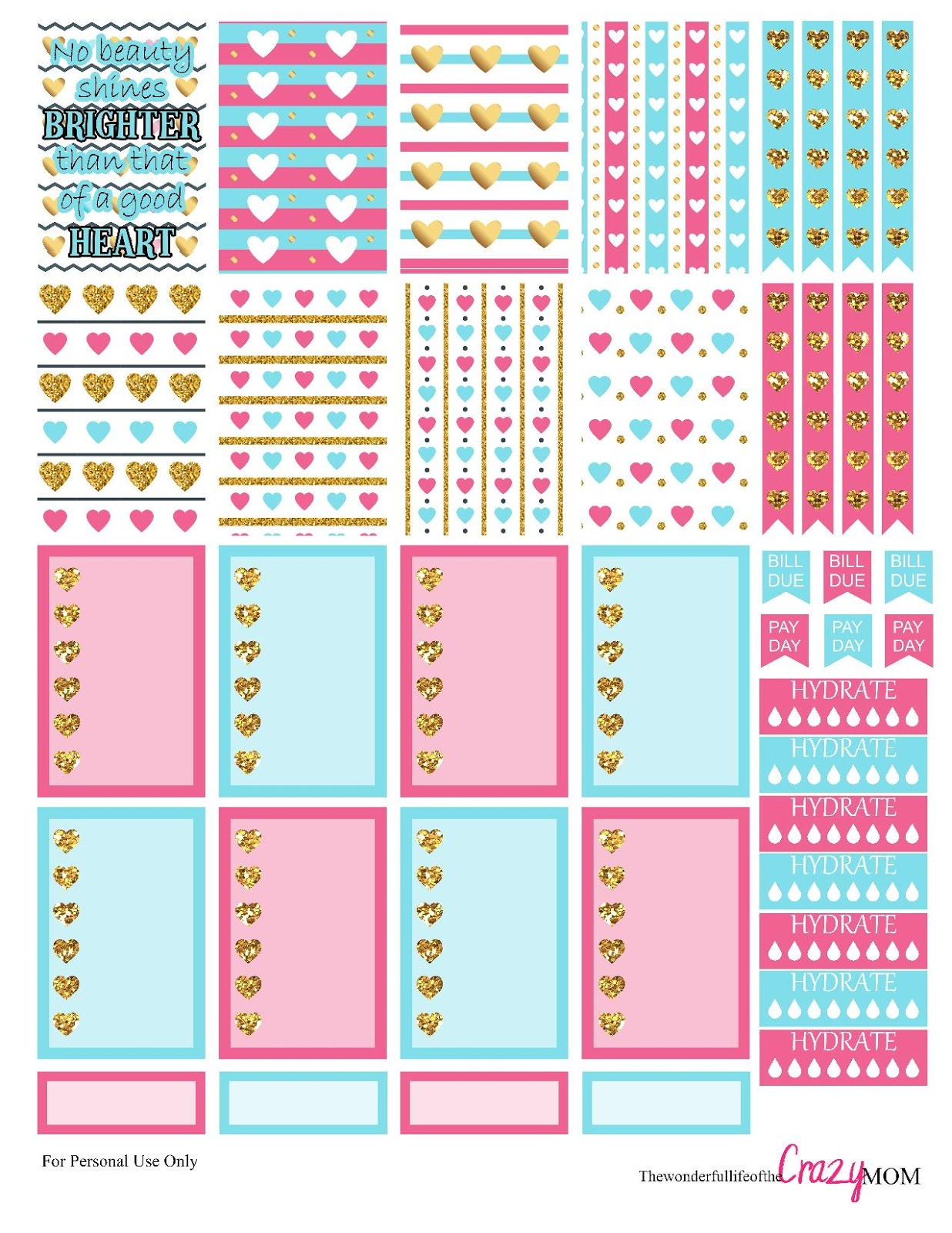 This is a picture of Dynamic Free Happy Planner Printables