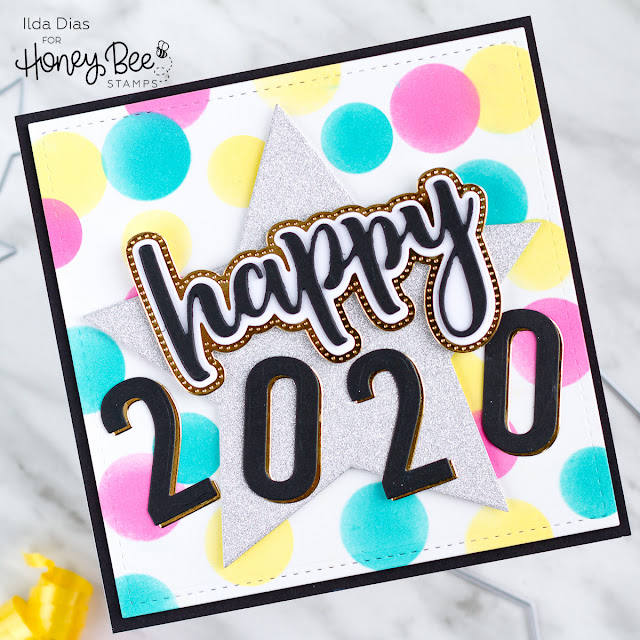 Happy 2020 New Years Card | Honey Bee Stamps by ilovedoingallthingscrafty.comv
