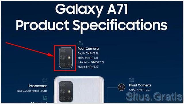 Galaxy A71 kamera bentuk L