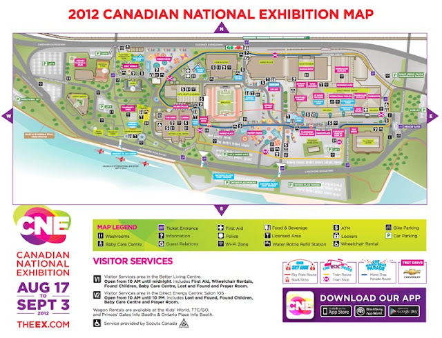 Map: Canadian National Exhibition. 2012