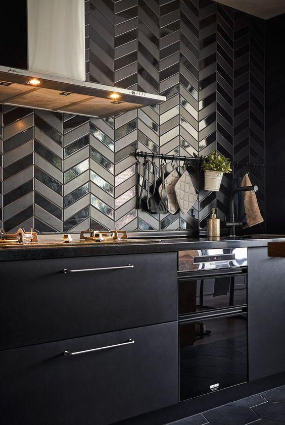 black kitchen design it`s your inspiartion