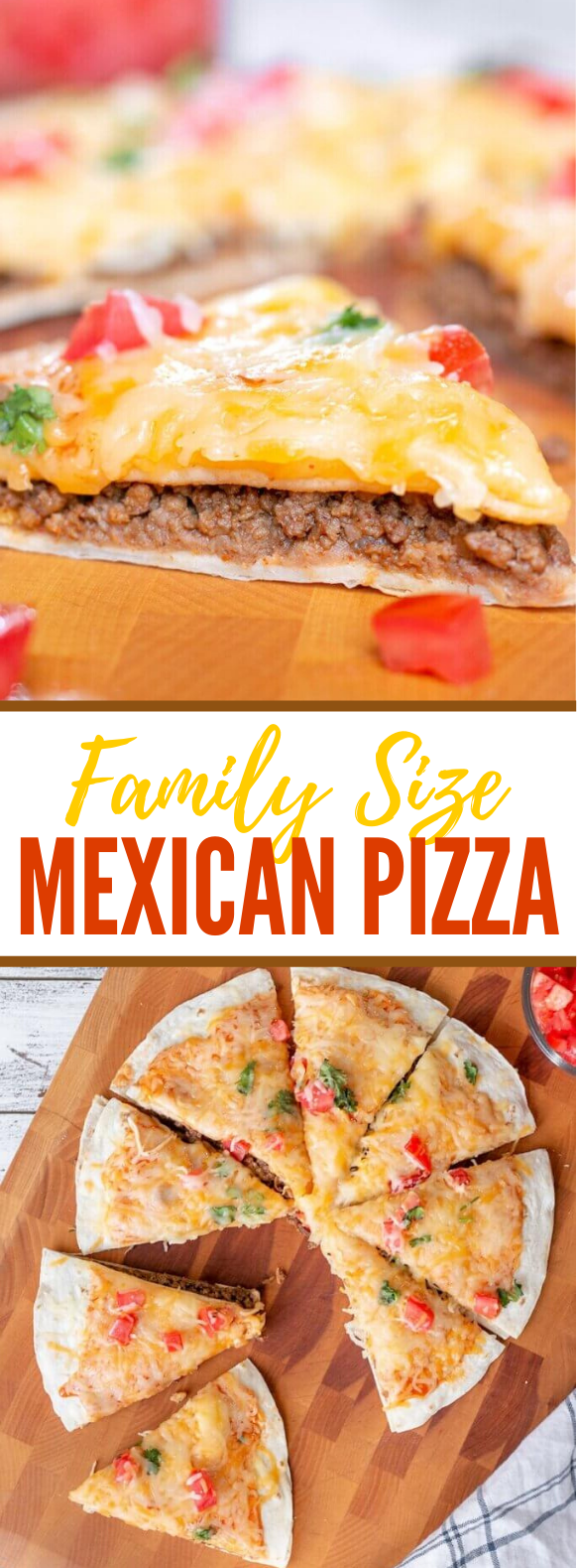 Family Size Mexican Pizza Recipe #dinner #familyrecipe