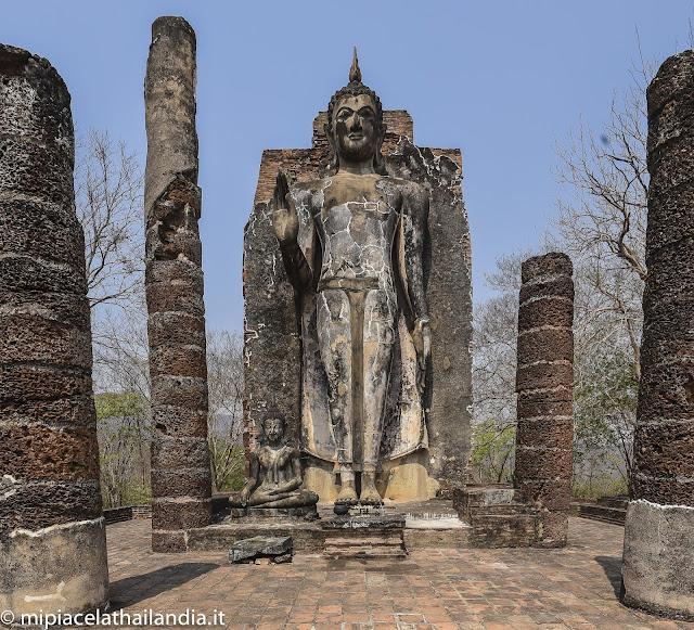 Sukhothai, standing Buddha fro Wat Saphan Hin