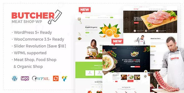 Organic Shop Woocommerce Theme Free Download Butcher v2.8 – Meat, Organic Shop Woocommerce Theme