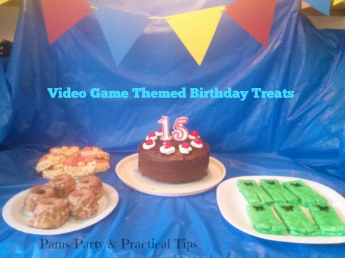 Video Game Themed Treats for Teen Birthday
