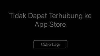 Solusi Tidak Dapat Terhubung ke App Store