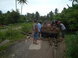Atas inisiatif dan kepedulian Kepala Pekon dan Aparat desa di Pemerintahan Pekon Sidomulyo ini akhirnya diadakan kegiatan gotong royong