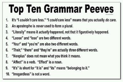 grammar rules for writing a list
