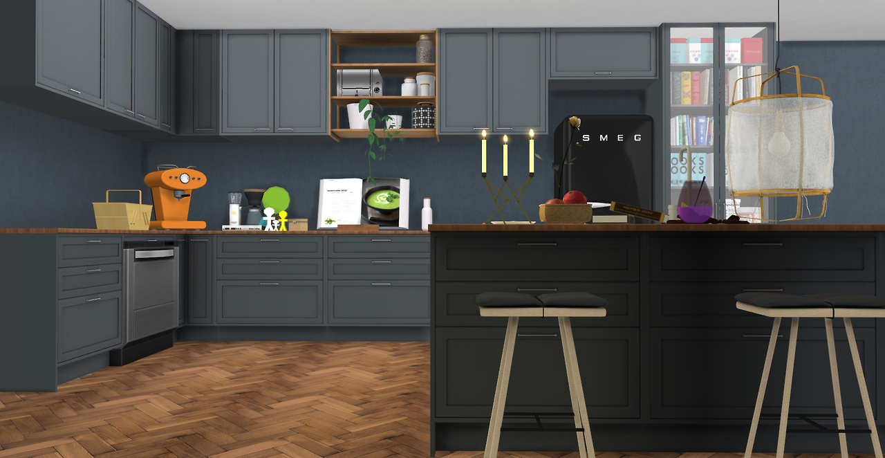 sims 4 cc's - the best: s-series kitchen set by minc78, Badezimmer ideen
