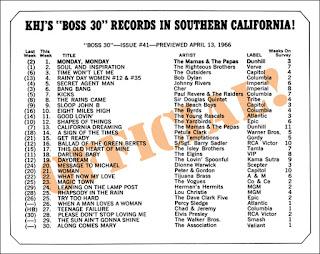 KHJ Boss 30 No. 41 - April 13, 1966