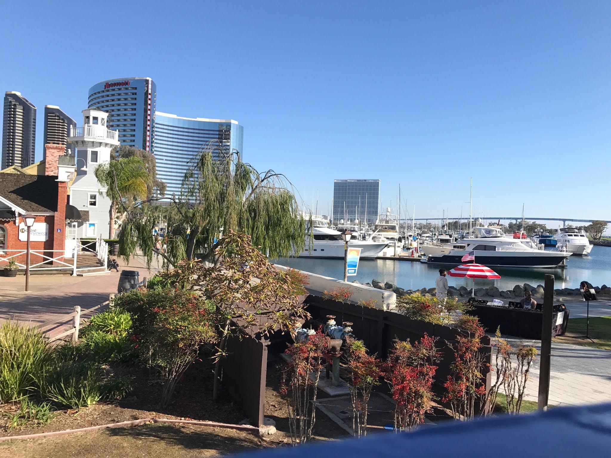 Seaport Village shopping a céu aberto porto de San Diego