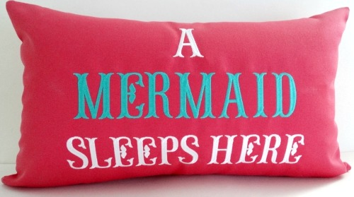 A Mermaid Sleeps Here Pillow