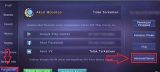 Cara Masuk Advance Server Mobile Legends Terbaru