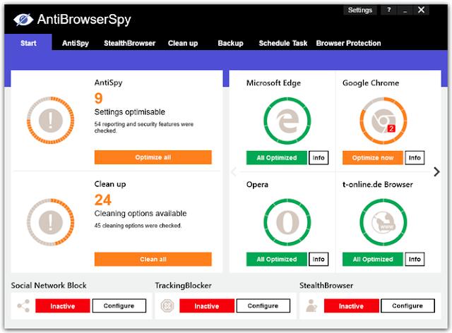 Screenshot Abelssoft AntiBrowserSpy 2020 v303 Full Version