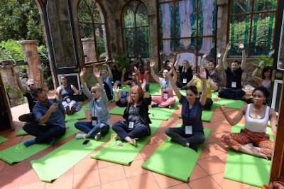 Yoga class at Shepstone Gardens