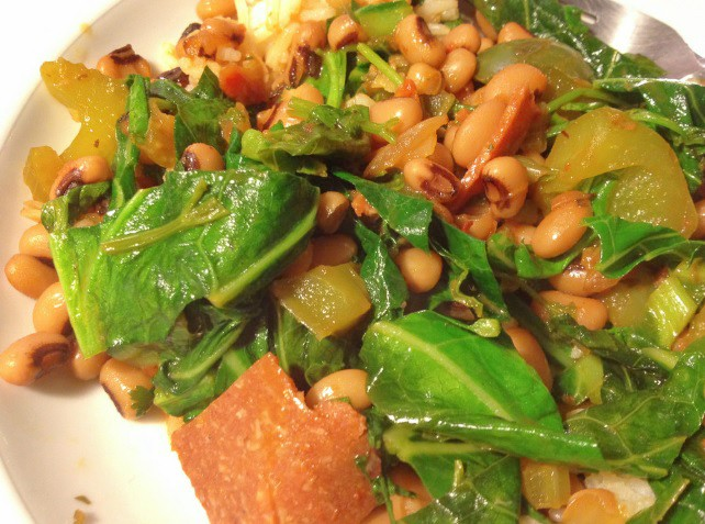 Black-eyed peas and greens recipe