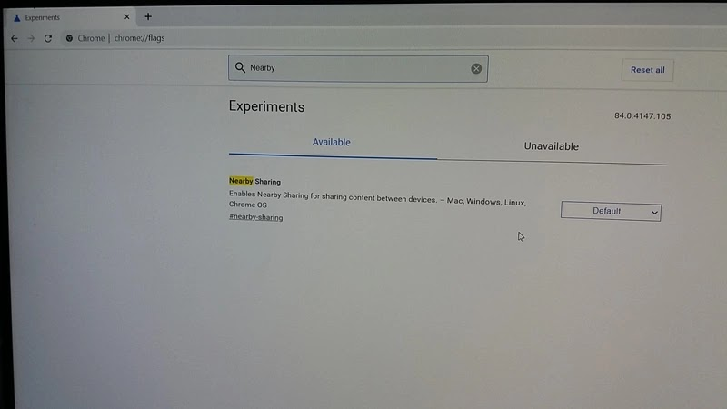 open experiment page on chrome browser