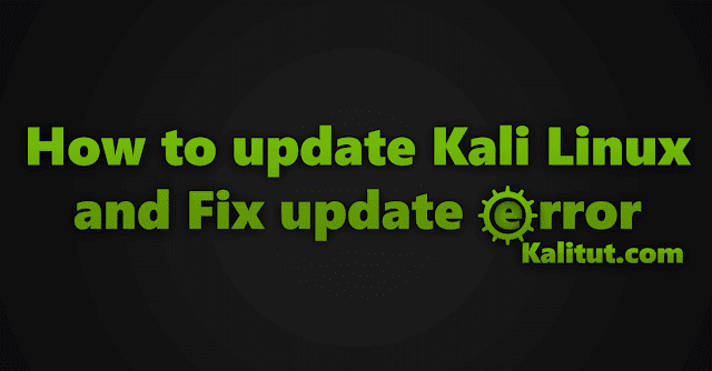 how to update Kali Linux