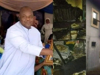 Anambra state- Fire Burns Catholic Priest To Death While Asleep