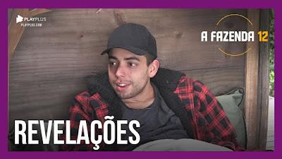 A Fazenda 12 – Lucas revela já ter ficado com Stéfani