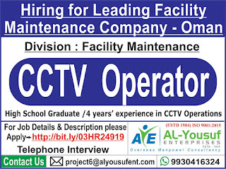 CCTV Operator for Oman