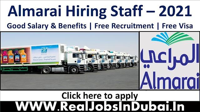 Almarai Hiring Staff In Saudi Arabia - 2021