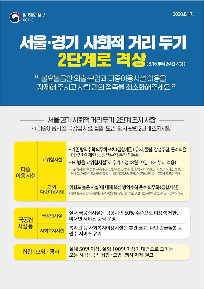 코로나바이러스(COVID-19) 감염방지를 위한 휴원(8/24~8/28)안내