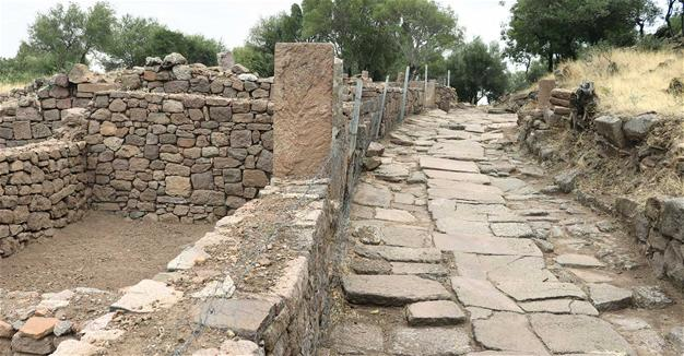 Ancient road found in Manisa