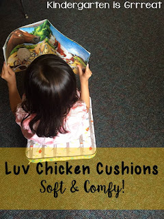 Luv Chicken cushions are fabulous for toddlers, on the go families, and classrooms.  See how I used this as a flexible seating option in my classroom.  Check out the PROMO CODE to see how you can save $15 off your Luv Chicken cushion!