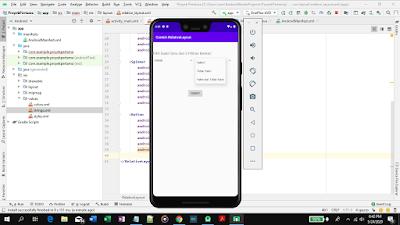 cara menggunakan relativelayout di android studio