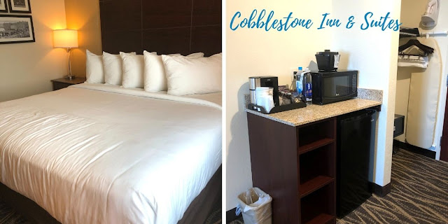 Settling in for a stay at Cobblestone Inn & Suites in Janesville, Wisconsin
