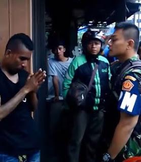 Debt Collector Menangis Dipukul Polisi Militer