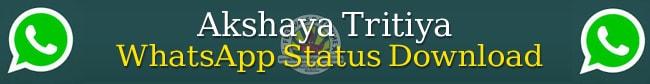 Akshaya Tritiya Whatsapp Status Download