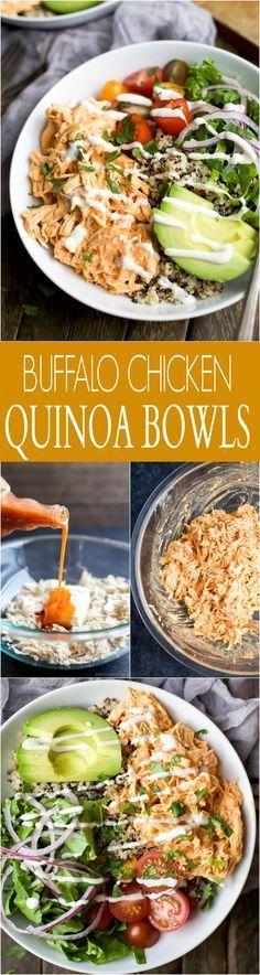 Zucchini ##BreadsticksBuffalo #Chicken #Quinoa #Bowls