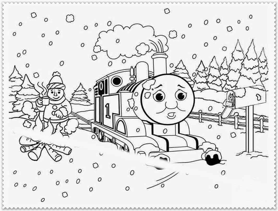 winter images coloring pages