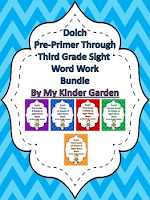 Dolch PrePrimer - Third Grade 8 Weeks of Sight Word Work