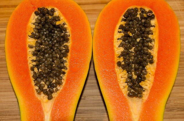 Papaya for chicken pox scar removal