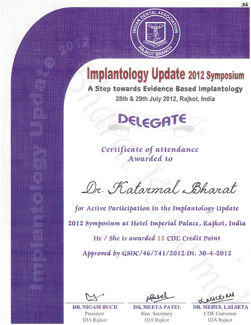 Implantology Update 2012 Symposium at Rajkot