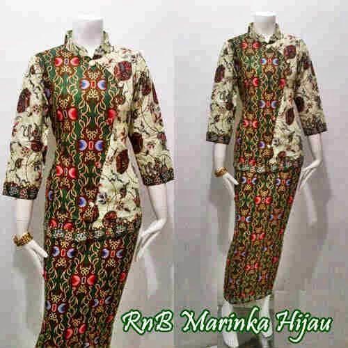 Baju Embos Kombinasi Batik: 25 Model Baju Batik Kombinasi Embos Modern