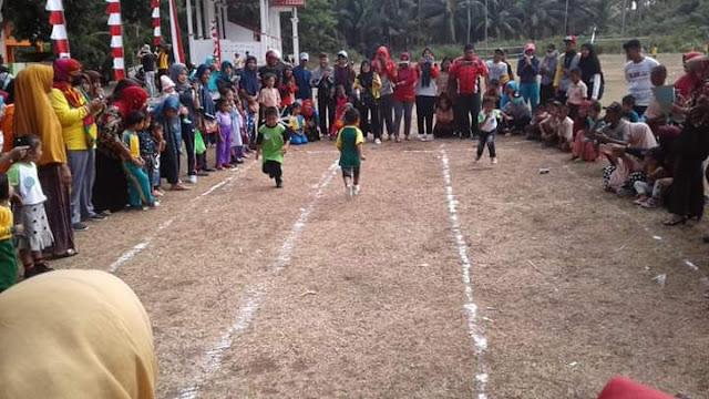 Meriah Lomba Olah Raga Dan Seni, Sambut HUT RI - 74 Di Kecamatan Buki