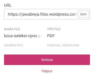 Tampilan upload file